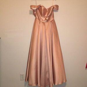 Blush Pink Ballgown Prom Dress